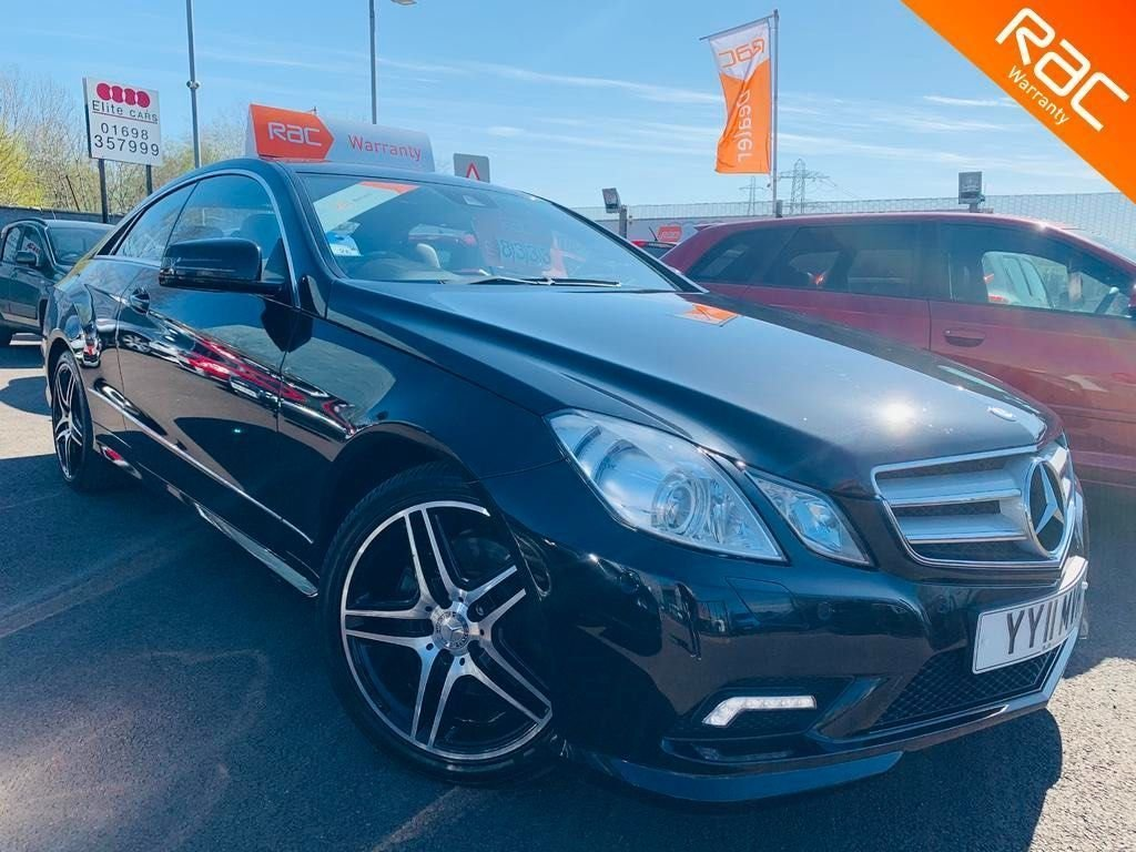 USED 2011 11 MERCEDES-BENZ E-CLASS 2.1 E250 CDI BlueEFFICIENCY Sport 2dr 12 months national warranty