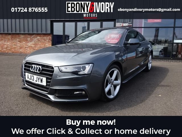 USED 2013 13 AUDI A5 2.0 TDI S LINE S/S 2d 177 BHP + BLACK NAPPA LEATHER  FULL SERVICE HISTORY + 1 YEAR MOT AND BREAKDOWN COVER