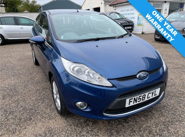 USED 2009 58 FORD FIESTA 1.2 ZETEC 3d 81 BHP ONE YEAR WARRANTY INCLUDED