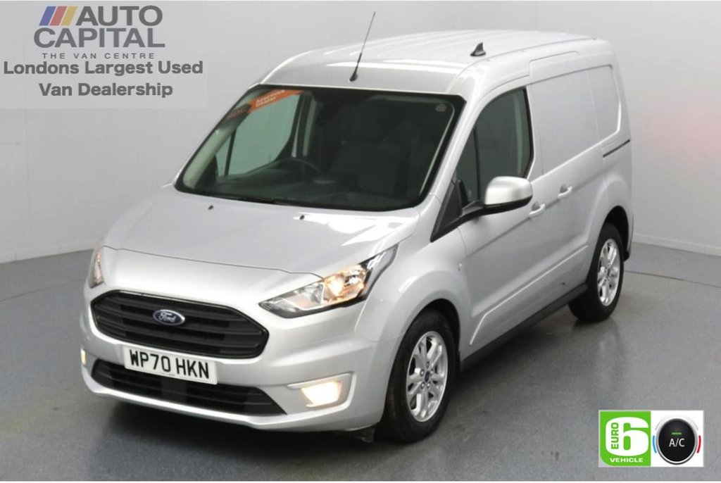 USED 2020 70 FORD TRANSIT CONNECT 1.5 200 Limited EcoBlue Auto 120 BHP L1 SWB 3 Seats Low Emission Automatic Gearbox   Keyless   Air Con   R. Sensors   Alloy wheels   Auto Start-Stop system