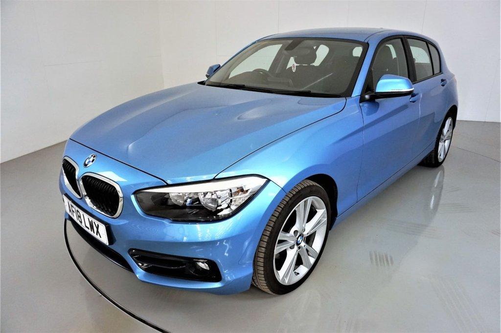 USED 2018 18 BMW 1 SERIES 2.0 120I SPORT 5d-2 OWNER CAR-BLUETOOTH-SPEED LIMITER-SATNAV-DAB RADIO-PUSH BUTTON START