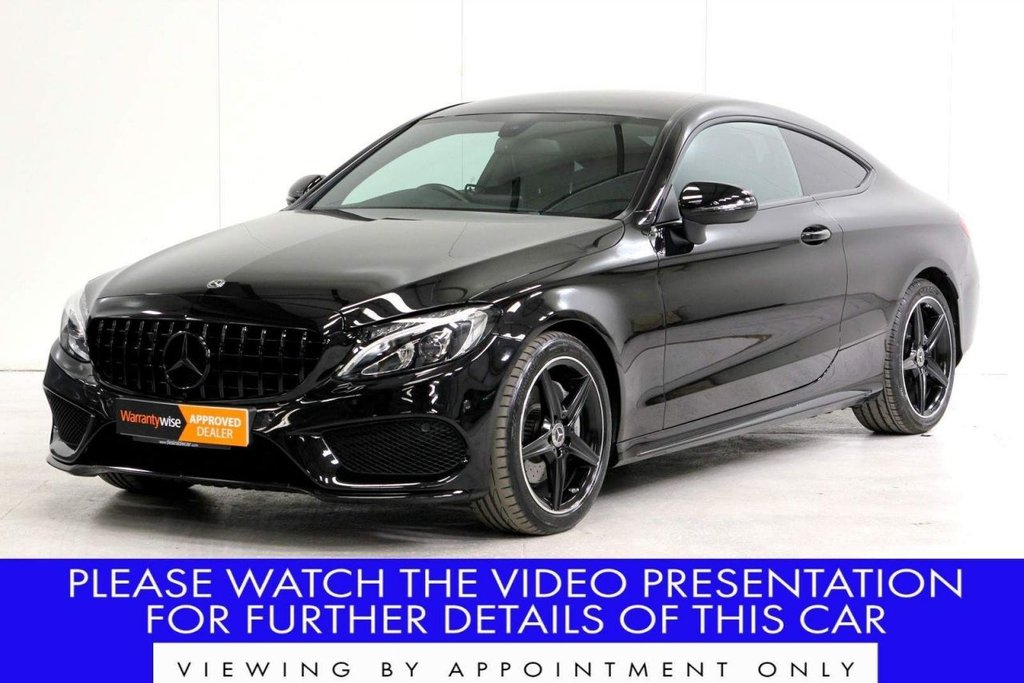 USED 2018 18 MERCEDES-BENZ C-CLASS 2.0 C200 AMG Line G-Tronic+ (s/s) 2dr VAT Q*REAR CAMERA*HEATED SEATS