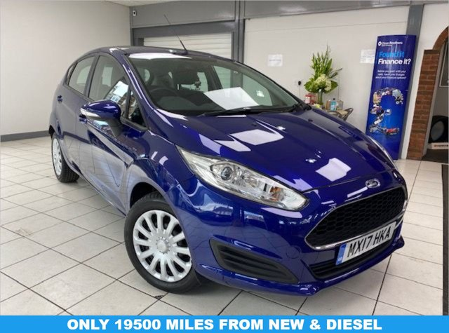 USED 2017 17 FORD FIESTA 1.5 STYLE TDCI 5d 74 BHP DEEP IMPACT BLUE / CLOTH TRIM / ONE OWNER / SERVICE HISTORY / AIRCON