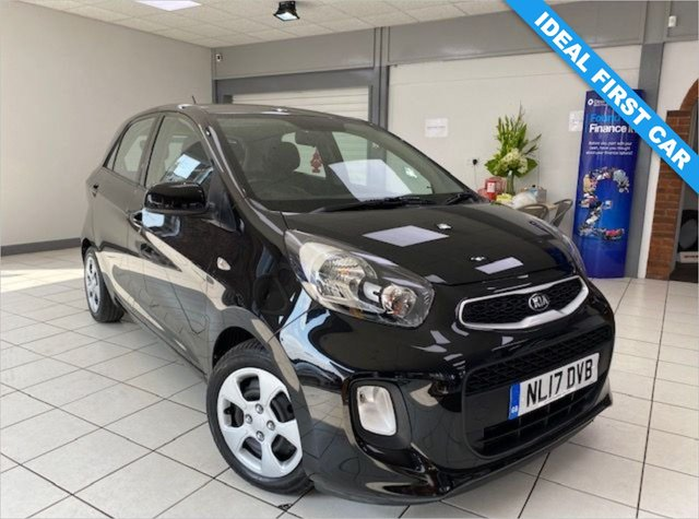 USED 2017 17 KIA PICANTO 1.0 1 AIR 5d 65 BHP GALAXY BLACK / CLOTH TRIM / AIRCON / ONE OWNER / SERVICE HISTORY / APRIL '22 MOT