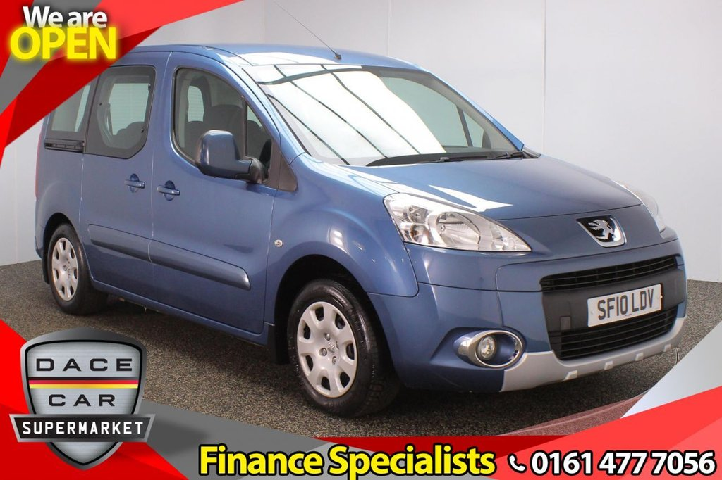 USED 2010 10 PEUGEOT PARTNER 1.6 TEPEE S HDI 5DR 90 BHP WHEELCHAIR ACCESSIBLE VEHICLE + RADIO/CD + AIR CONDITIONING + ELECTRIC WINDOWS + ELECTRIC DOOR MIRRORS