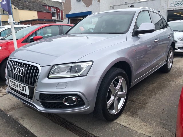 USED 2014 64 AUDI Q5 2.0 TDI QUATTRO S LINE S/S 5d 175 BHP FINANCE ARRANGED**PART EXCHANGE WELCOME**FULL LEATHER*BLUETOOTH*CRUISE*6 SPEED*F+R PARKING SENSORS*DAB*USB