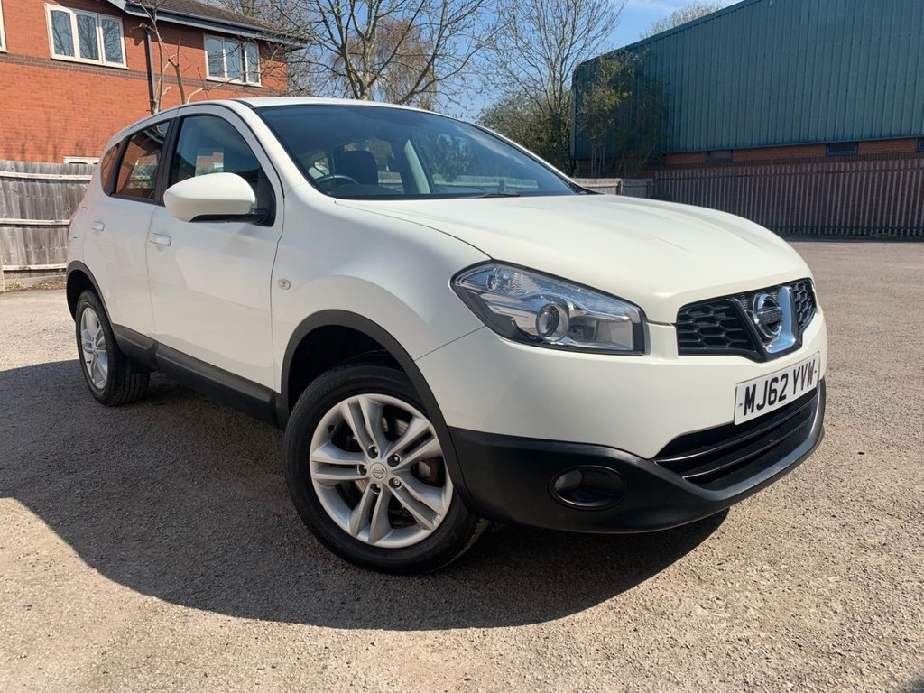 USED 2012 62 NISSAN QASHQAI 1.6 ACENTA 5d 117 BHP ONLY 30565 MILE, BLUETOOTH, REAR PARKING AID