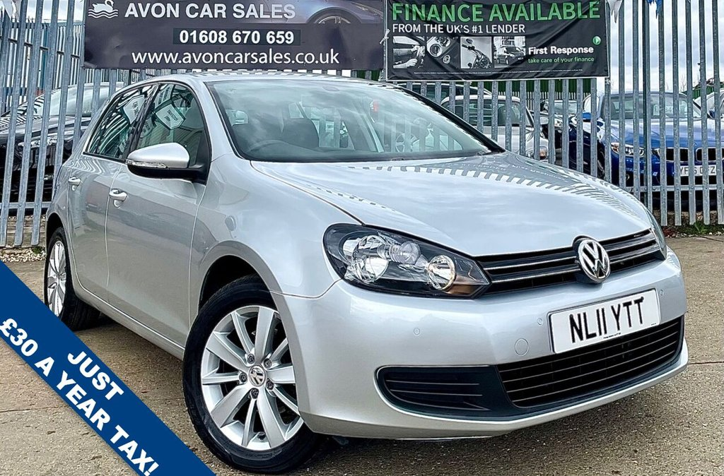 USED 2011 11 VOLKSWAGEN GOLF 1.6 MATCH TDI 5d 103 BHP - �£30 ROAD TAX!