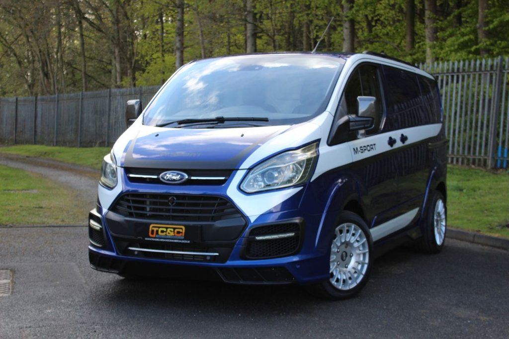 USED 2017 17 FORD TRANSIT CUSTOM 2.0 290 MS-RT M SPORT P/V 168 BHP A BEAUTIFUL LOW MILEAGE GENUINE MSRT CUSTOM WITH NO VAT TO BE ADDED!!!