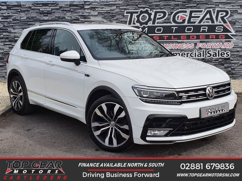 USED 2017 66 VOLKSWAGEN TIGUAN 2.0 TDI R LINE BMT 4MOTION DSG 5d AUTO 148 BHP ** SERVICE HISTORY, PANORAMIC ROOF, LOW MILES ** OVER 90 VEHICLES IN STOCK