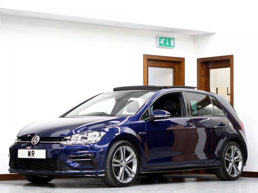 USED 2018 18 VOLKSWAGEN GOLF 2.0 TDI R-Line DSG (s/s) 5dr PAN ROOF  + FULL LEATHER  +ACC