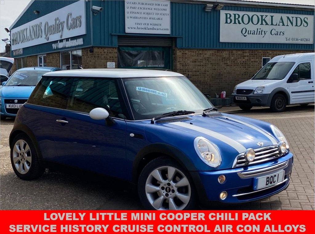 USED 2006 06 MINI HATCH COOPER 1.6 COOPER Chili Pack finished in Hyper Blue Metallic  114 BHP Lovely Little Mini Cooper Chili Pack Service History Cruise Control Air Con Alloys