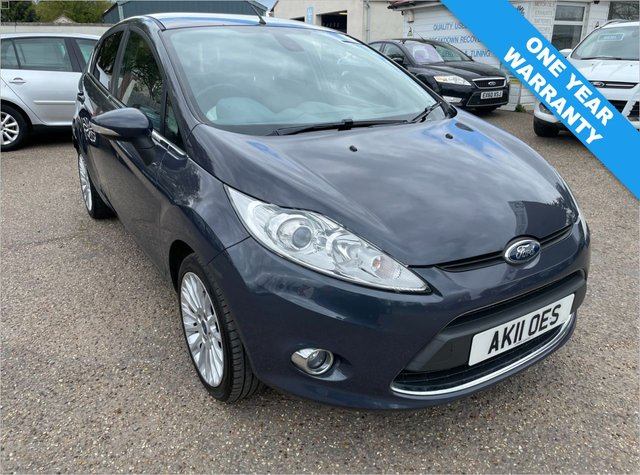 USED 2011 11 FORD FIESTA 1.6 TITANIUM TDCI 5d 94 BHP ONE YEAR WARRANTY INCLUDED / FULL HISTORY WITH CAM BELT DONE 2019 / VOICE COMMS / USB / BLUETOOTH / CRUISE CONTROL