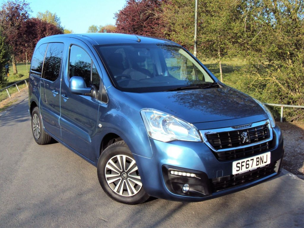 USED 2017 67 PEUGEOT PARTNER 1.6 HORIZON RE/BLUE HDI S/S TEPEE ALLURE 5d 100 BHP LOW MILEAGE+WHEEL CHAIR ACCESS