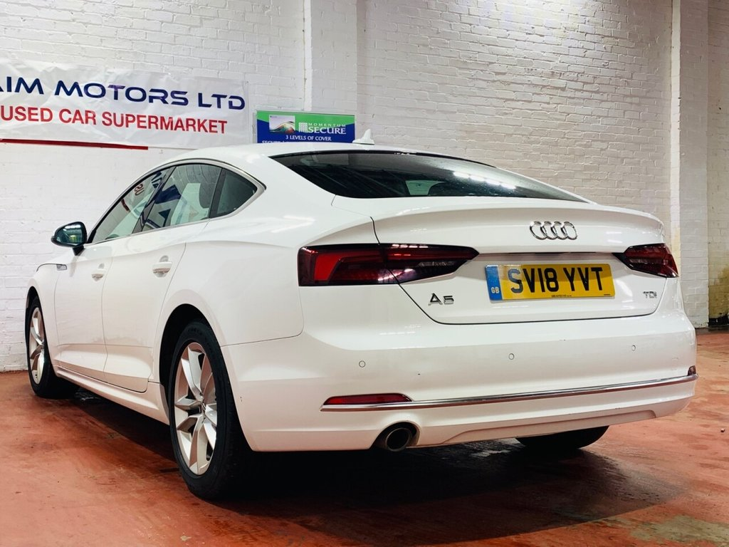 USED 2018 18 AUDI A5 2.0 SPORTBACK TDI SPORT MANUAL 1 OWNER FROM NEW FSH 1 OWNER FROM NEW MOT APRIL 2022 SERVICE HISTORY