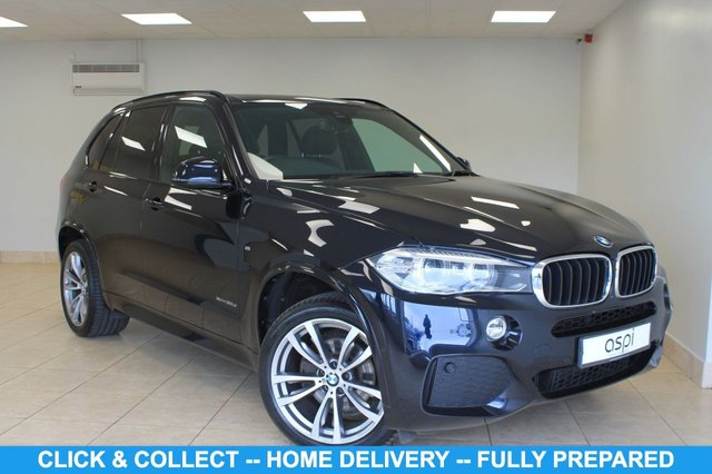 "USED 2018 18 BMW X5 3.0 XDRIVE30D M SPORT 5d 255 BHP BLACK DAKOTA LEATHER, PROFESSIONAL SAT NAV, CLIMATE CONTROL, PANORAMIC GLASS SUNROOF, HEATED STEERING WHEEL, FRONT & REAR HEATED SEATS, MULTI FUNCTION STEERING WHEEL, 20"" ALLOY WHEELS, M SPORTS PK, CRUISE CONTROL, FINE BRUSHED ALUMINIUM INTERIOR TRIM, HIGH BEAM ASSIST, SELF PARK, 360 SURROUND CAMERA, FRONT & REAR CAMERA, COLD WEATHER PK + SEATS, M SPORTS PLUS PK, 3rd ROW SEATING, PARK ASSIST, SURROUND VIEW"