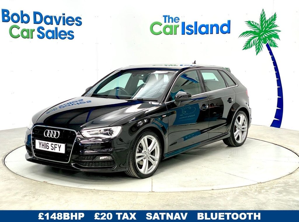 USED 2016 16 AUDI A3 2.0 TDI S LINE NAV 5d 148 BHP S LINE SATNAV Half Leather Parking Sensors 37000 miles