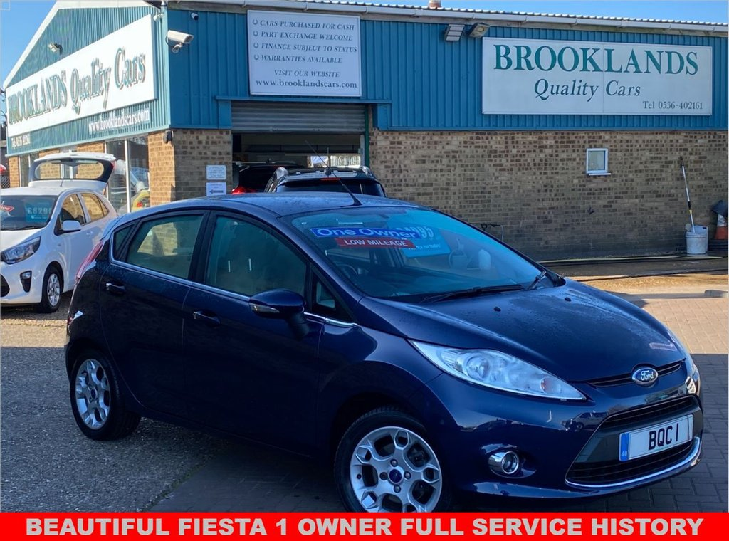 USED 2012 12 FORD FIESTA 1.4 ZETEC 16V 5 Door Ink Blue Metallic 96 BHP Beautiful Fiesta 1 Owner from new with Full Service History