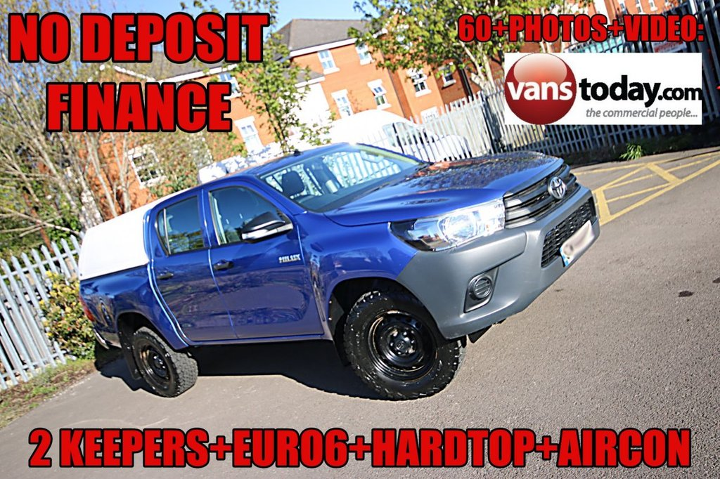 USED 2016 66 TOYOTA HI-LUX 2.4 ACTIVE 4WD D-4D DCB 148 BHP + HARD TOP + EURO 6  NO DEPOSIT FINANCE + 2 KEEPER + EURO 6 + HARDTOP