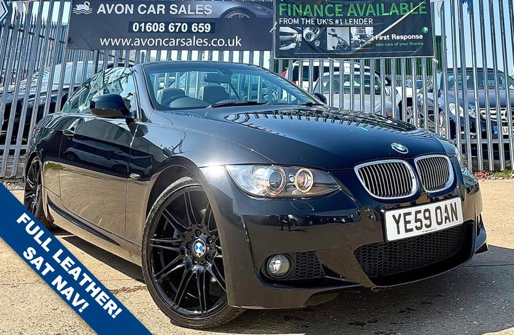 USED 2009 59 BMW 3 SERIES 3.0 330D M SPORT HIGHLINE 2d 242 BHP AUTOMATIC! - FULL LEATHER! SAT NAV! TELEPHONE PREP! STAMPED SERVICE BOOK!