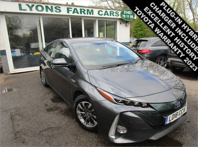 USED 2018 18 TOYOTA PRIUS 1.8 VVTi PLUG-IN HYBRID (PHEV) EXCEL CVT 5d 121 BHP AUTOMATIC Excellent Toyota Service History + Just Serviced by Toyota, One Previous Owner, MOT until March 2022, Plug-In Hybrid (PHEV), Automatic, Superb fuel economy! Balance of Toyota Manufacturer Warranty until March 2023 / 100,000 miles! Type 2 Charger Included!