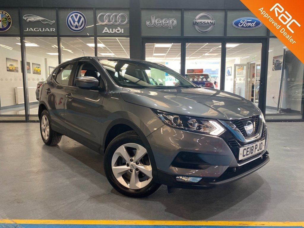 USED 2018 18 NISSAN QASHQAI 1.2 ACENTA DIG-T XTRONIC 5d 113 BHP Complementary 12 Months RAC Warranty and 12 Months RAC Breakdown Cover Also Receive a Full MOT With All Advisory Work Completed, Fresh Engine Service and RAC Multipoint Check Before Collection/Delivery