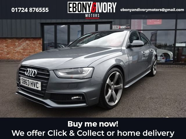 USED 2014 63 AUDI A4 2.0 TDI BLACK EDITION 4d 148 BHP FULL AUDI SERVICE HISTORY + 1 YEAR MOT AND BREAKDOWN COVER