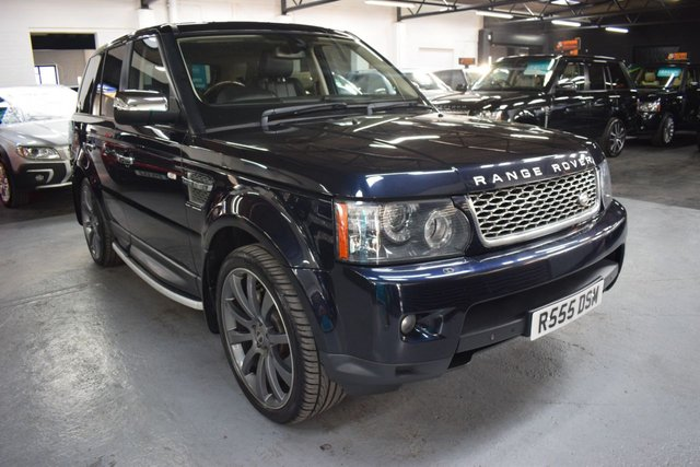 USED 2010 10 LAND ROVER RANGE ROVER SPORT 3.0 TDV6 HSE 5d 245 BHP 2010 FACELIFT CAR - 7 STAMPS TO 90K - LEATHER - NAV - TRAILAIR - SIDE STEPS - HEATED SEATS - INGRE INSERTS - KEYLESS ENTRY
