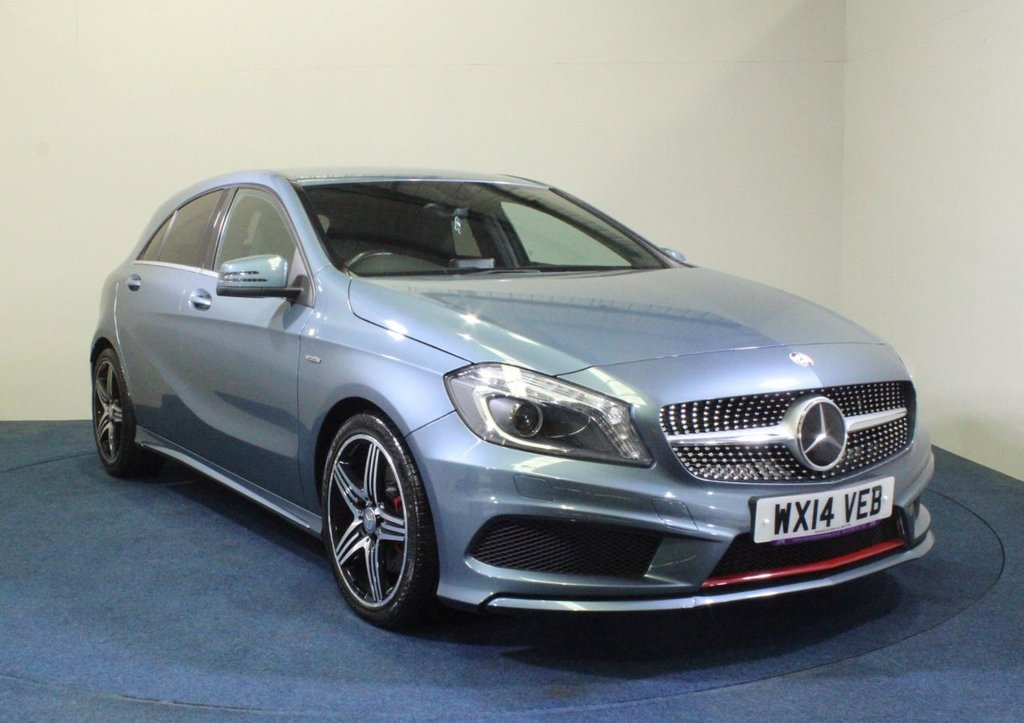 USED 2014 14 MERCEDES-BENZ A-CLASS 2.0 A250 BLUEEFFICIENCY ENGINEERED BY AMG 5d 211 BHP