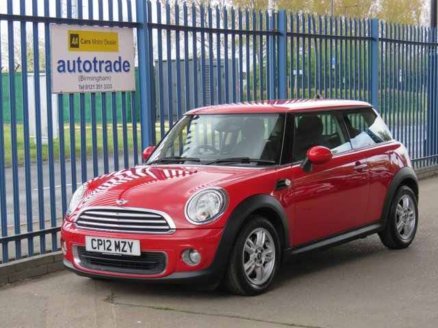 USED 2012 12 MINI HATCH ONE 1.6 ONE 3d 98 BHP. PEPPER PACK-DAB-BLUETOOTH-ALLOYS PEPPER PACK-DAB-CD-BLUETOOTH-ALLOYS-CHROME EXTERIOR-ALARM-A/C-
