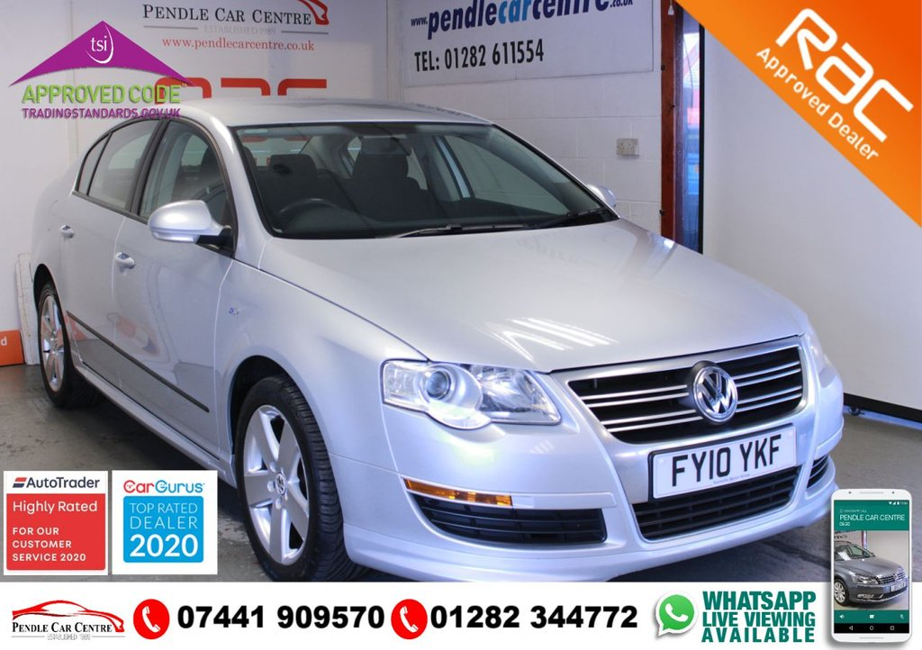 USED 2010 10 VOLKSWAGEN PASSAT 2.0 R LINE TDI DSG 4d 138 BHP TIMING BELT CHANGED + SERVICE HISTORY + VERY LOW MILEAGE + RAC PLATINUM WARRANTY INCLUDED