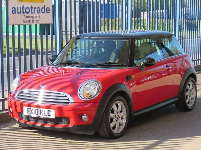 USED 2010 10 MINI HATCH COOPER 1.6 COOPER 3d 122 BHP. AUTOMATIC-PART LEATER-REAR SPOILER-ALLOYS AUTOMATIC-REAR SPOILER-A/C-C/D-ELECTRIC SUNROOF-SERVICE HISTORY-
