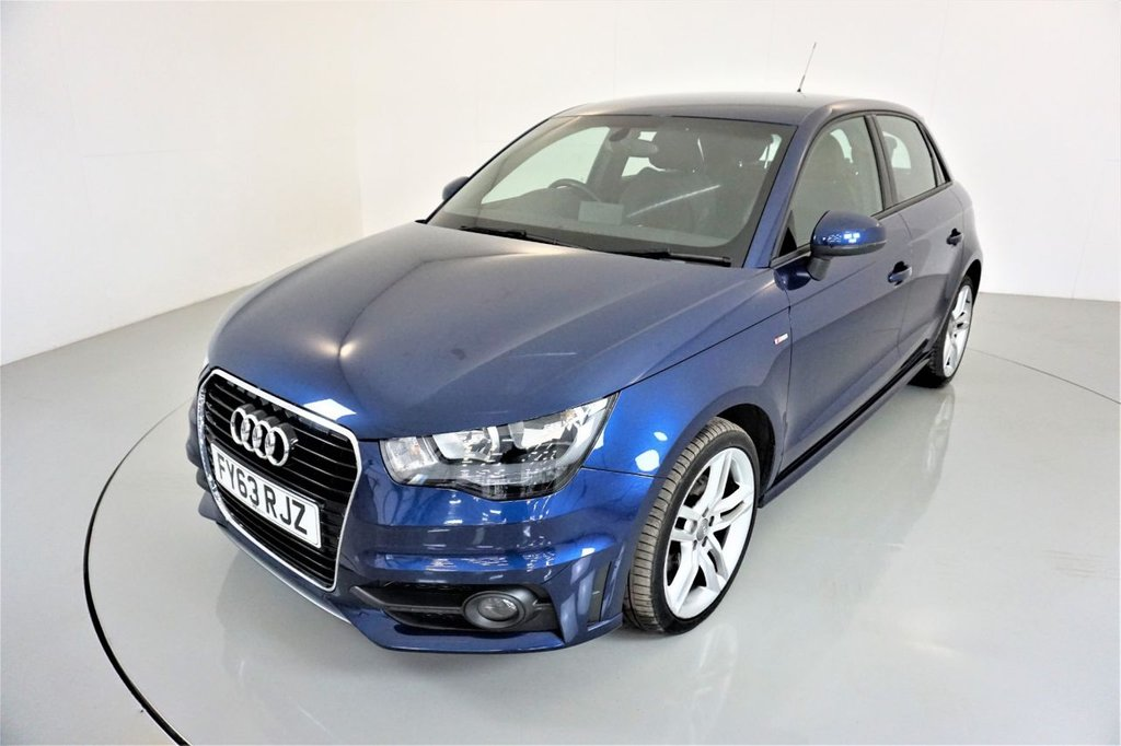 USED 2013 63 AUDI A1 1.6 SPORTBACK TDI S LINE 5d-2 FORMER KEEPERS-BLUETOOTH-ALLOY WHEELS-HALF LEATHER-AIR CONDITIONING
