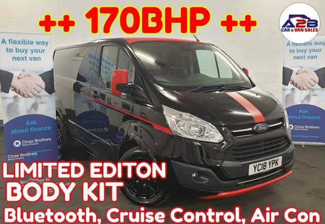 USED 2018 18 FORD TRANSIT CUSTOM 2.0  TREND COLOUR EDITION  168 BHP Bluetooth, Aircon, Cruise Control, Euro 6/ Ad blue, electric windows, electric mirrors and much more ... ++ UK DELIVERY AVAILABLE ++