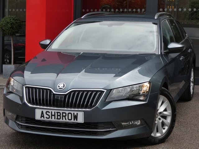 USED 2018 67 SKODA SUPERB ESTATE 1.6 TDI SE 5d 120 S/S 1 OWNER, FULL SKODA HISTORY, MANUAL 6 SPEED, SMART LINK FOR APPLE CARPLAY / ANDROID AUTO (GIVES YOU SAT NAV), ADAPTIVE CRUISE CONTROL, FRONT ASSIST, DAB RADIO, BLUETOOTH, AUX & USB INPUTS, FRONT FOG LIGHTS, 17 INCH 10 SPOKE ALLOY WHEELS, REAR PARKING SENSORS WITH DISPLAY, SILVER ROOF RAILS, GREY CLOTH INTERIOR, SPORT STYLE SEATS, LIGHT & RAIN SENSORS, LEATHER MULTIFUNCTION STEERING WHEEL, ELECTRIC FOLDING HEATED DOOR MIRRORS, AUTO HOLD, ILLUMINATING VANITY MIRRORS, CLIMATE CONTROL, VOICE CONTROL