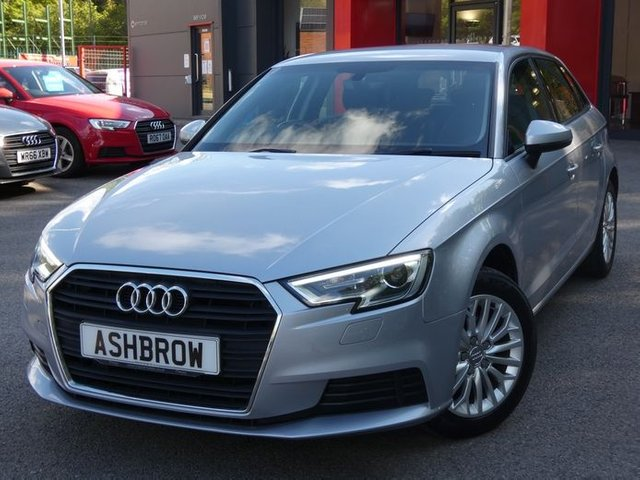 USED 2017 66 AUDI A3 SPORTBACK 1.6 TDI SE TECHNIK 5d 110 S/S CAMBELT & WATER PUMP CHANGED, £0 ROAD TAX (99 G/KM), SAT NAV, AUDI SMART PHONE FOR APPLE CAR PLAY / ANDROID AUTO, CRUISE CONTROL, REAR PARKING SENSORS, DAB DIGITAL RADIO, BLUETOOTH PHONE & MUSIC STREAMING, LED XENON LIGHTS, LIGHT & RAIN SENSORS, AUDI CONNECT, WIFI, MANUAL 6 SPEED, EATHER MULTIFUNCTION STEERING WHEEL, AIR CONDITIONING, CD HIFI WITH 2x SD CARD READERS & SIM CARD READER, AUX & 2x USB INPUTS, FRONT CENTRE ARM REST, 1 OWNER FROM NEW, SERVICE HISTORY, VAT QUALIFYING