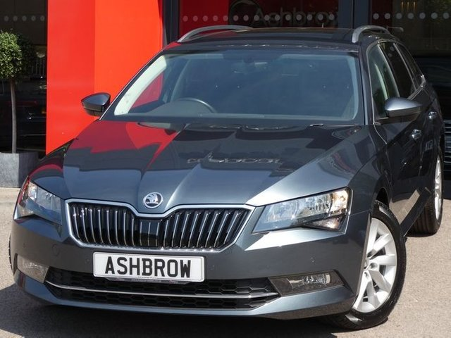 USED 2017 66 SKODA SUPERB ESTATE 1.6 TDI SE BUSINESS 5d 120 S/S 1 OWNER, FULL SKODA HISTORY, £20 ROAD TAX (109 G/KM), SAT NAV, SMART LINK FOR APPLE CARPLAY / ANDROID AUTO & MIRROR LINK, LEATHER ALCANTARA, FRONT & REAR PARKING SENSORS WITH DISPLAY, DAB RADIO, BLUETOOTH PHONE & MUSIC, ADAPTIVE CRUISE CONTROL & SPEED LIMITER, FRONT ASSIST, AUTO HILL HOLD, AUX & USB INPUTS, LIGHT & RAIN SENSORS, ELECTRIC FOLDING MIRRORS, ELECTRIC DRIVER SEAT WITH MEMORY, MANUAL 6 SPEED, 17 INCH ALLOYS, TINTED GLASS, LEATHER MULTIFUNCTION STEERING WHEEL, DUAL CLIMATE A/C, VATQ