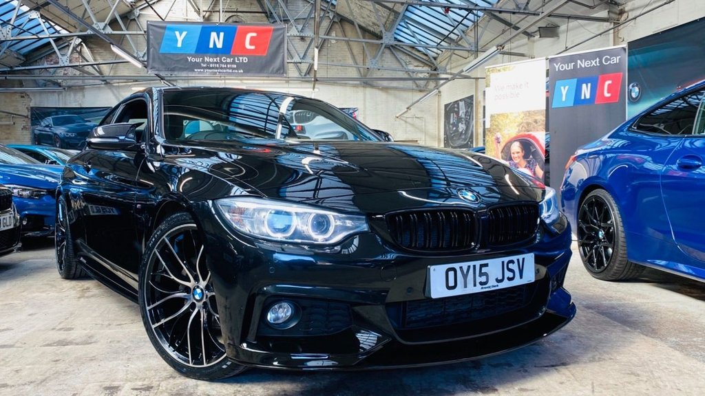 USED 2015 15 BMW 4 SERIES 2.0 420d M Sport 2dr PERFORMANCEKIT+20S+XENONS