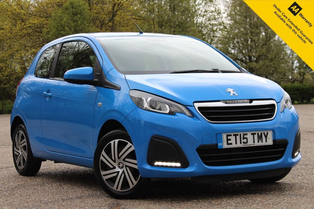 USED 2015 15 PEUGEOT 108 1.0 ACTIVE 3d 68 BHP ** FULL SERVICE HISTORY ** BRAND NEW MOT + SERVICE DONE APRIL 2021 ** TOUCHSCREEN MEDIA INTERFACE ** BLUETOOTH + USB ** AIR CONDITIONING ** DAB RADIO ** £0 ROAD TAX - 68.9mpg ** CHEAP INSURANCE GROUP ** ULEZ CHARGE EXEMPT ** BUY ONLINE IN CONFIDENCE FROM A MULTI AWARD WINNING 5* RATED DEALER **