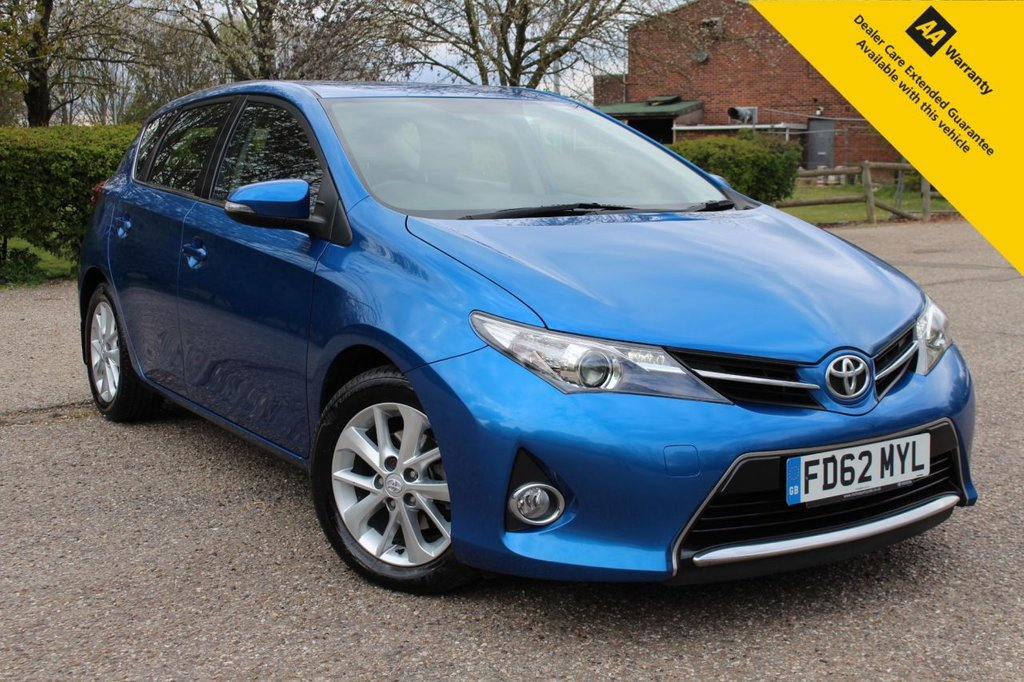 USED 2012 62 TOYOTA AURIS 1.4 ICON D-4D  5d 89 BHP ** 78.5 MPG AND ONLY 20 POUNDS ROAD TAX A YEAR ** FRESH SERVICE AND ADVISORY FREE MOT - NO UPCOMING COSTS ** BLUETOOTH ** REAR PARKING CAMERA ** DAB RADIO ** GREAT FINANCE OPTIONS WITH ZERO DEPOSIT ** NATIONWIDE HOME DELIVERY AVAILABLE WITH 14 DAYS RETURN POLICY **