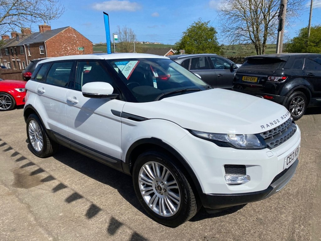 USED 2013 13 LAND ROVER RANGE ROVER EVOQUE 2.2 SD4 PURE TECH AWD AUTOMATIC 5d 190 BHP * 1 OWNER * HEATED LEATHER * 19