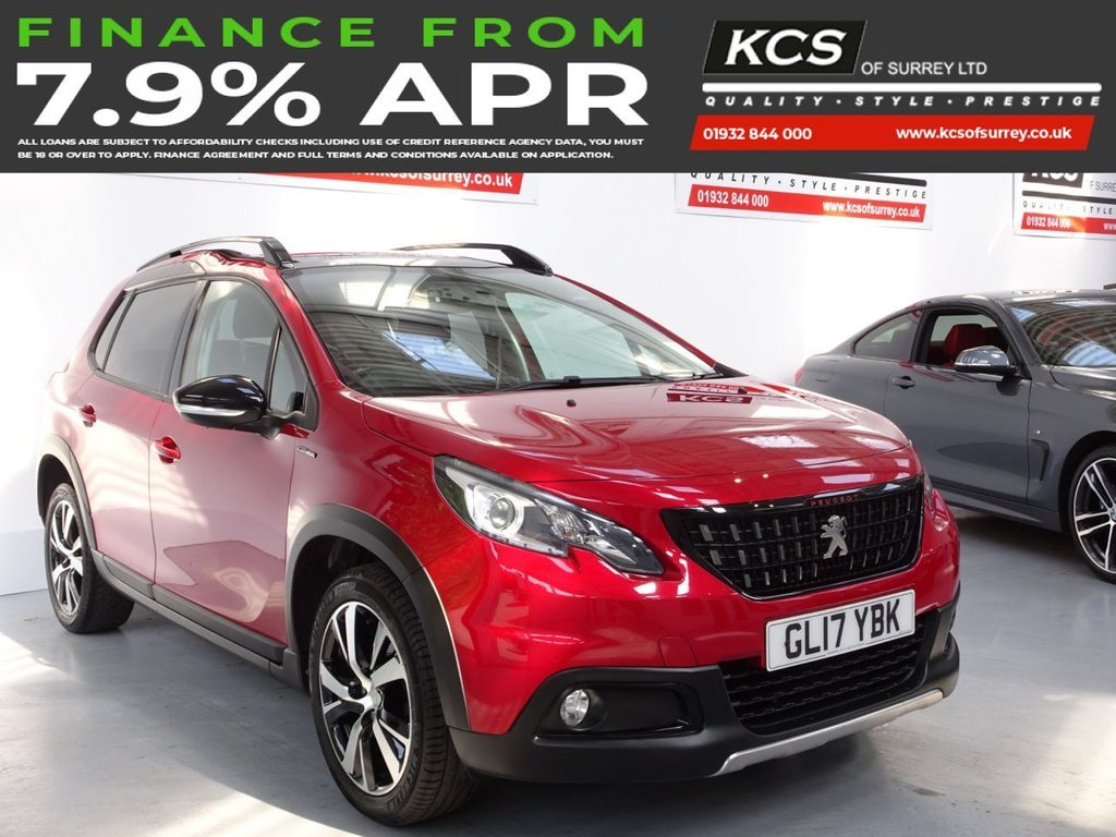 USED 2017 17 PEUGEOT 2008 1.6 BLUE HDI GT LINE 5d 100 BHP PAN ROOF - SAT NAV - CAMERA