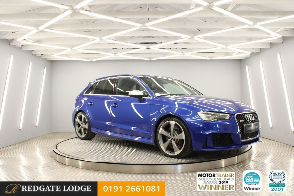 USED 2016 65 AUDI A3 2.5 RS3 SPORTBACK QUATTRO NAV 5d 362 BHP 1 OWNER, SAT/NAV, LEATHER, CRUISE CONTROL, ELECTRIC FRONT HEATED SEATS, PRIVACY GLASS, B&O SOUND SYSTEM...