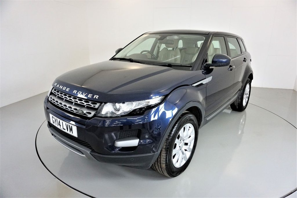 USED 2014 14 LAND ROVER RANGE ROVER EVOQUE 2.2 SD4 PURE TECH 5d-1 OWNER CAR-MERIDIAN SOUND-PANORAMIC ROOF-HEATED LEATHER SEATS-BLUETOOTH-CRUISE CONTROL-SATNAV-PARKING SENSORS-DAB RADIO-CLIMATE CONTROL