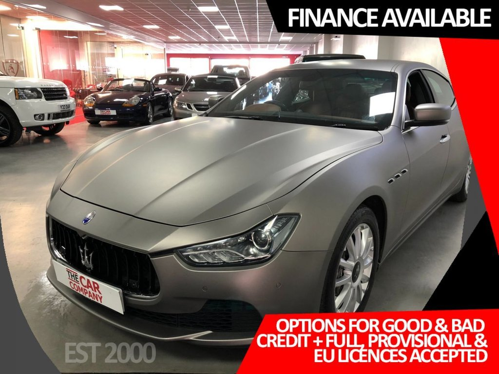 USED 2014 64 MASERATI GHIBLI 3.0 DV6 4d 275 BHP * CRUISE CONTROL   * BLUETOOTH * NAVIGATION  * 4 SERVICE STAMPS * CLIMATE CONTROL