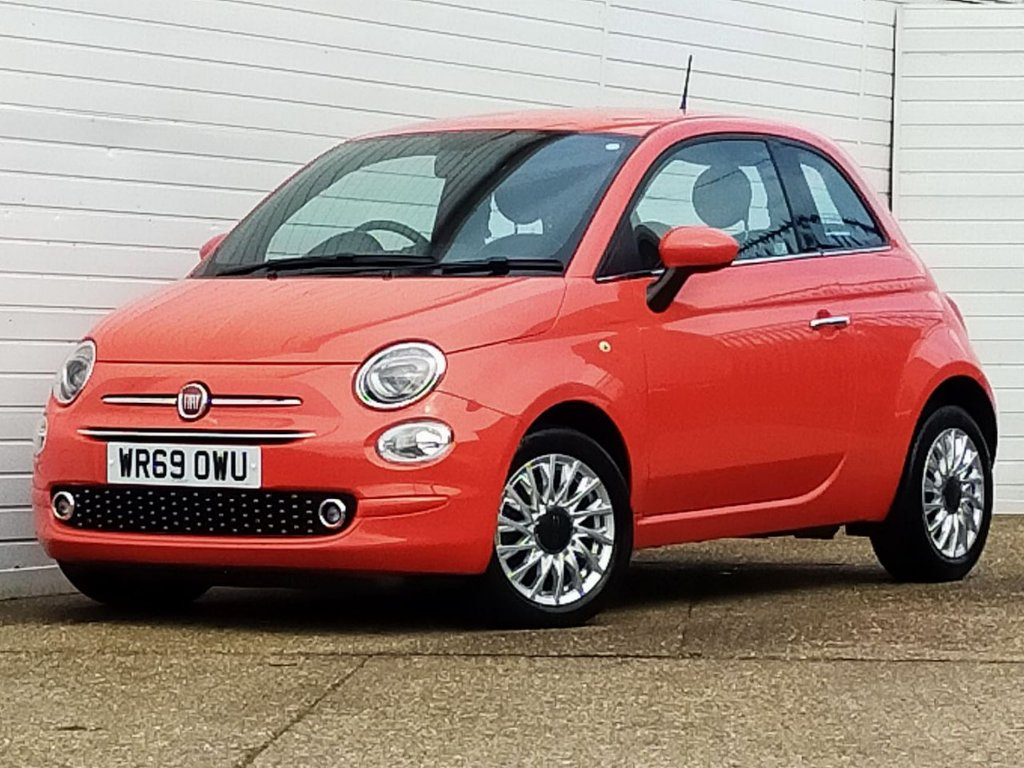 USED 2019 69 FIAT 500 1.2 LOUNGE 3d 69 BHP Buy Online Moneyback Guarantee