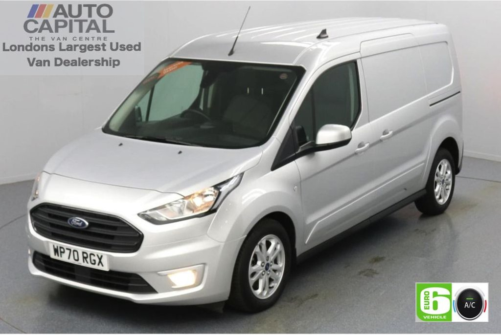 USED 2020 70 FORD TRANSIT CONNECT 1.5 240 Limited EcoBlue Auto 120 BHP L2 LWB 3 Seats Low Emission Automatic Gearbox | Air conditioning | Auto Start-Stop system | Rear parking distance sensors | Alloy wheels