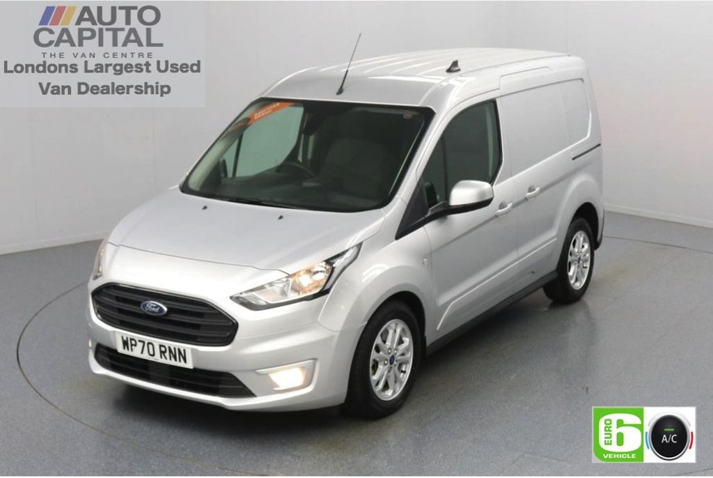 USED 2020 70 FORD TRANSIT CONNECT 1.5 200 Limited EcoBlue Auto 120 BHP L1 SWB 3 Seats Low Emission Automatic Gearbox | Keyless | Air Con | R. Sensors | Alloy wheels | Auto Start-Stop system