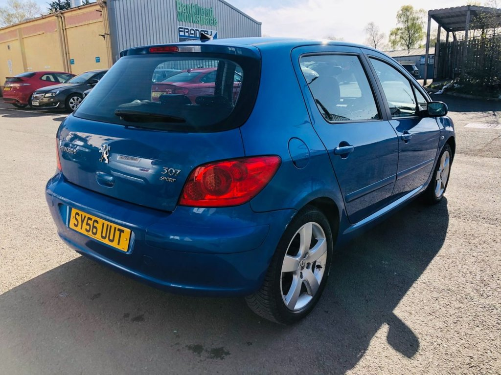 USED 2006 56 PEUGEOT 307 1.6 SPORT AUTOMATIC FSH 15 STAMPS 67K LOW MILES FSH 15 STAMPS 67K MILES LEATHER SAME OWNER 10 YEARS AUTOMATIC