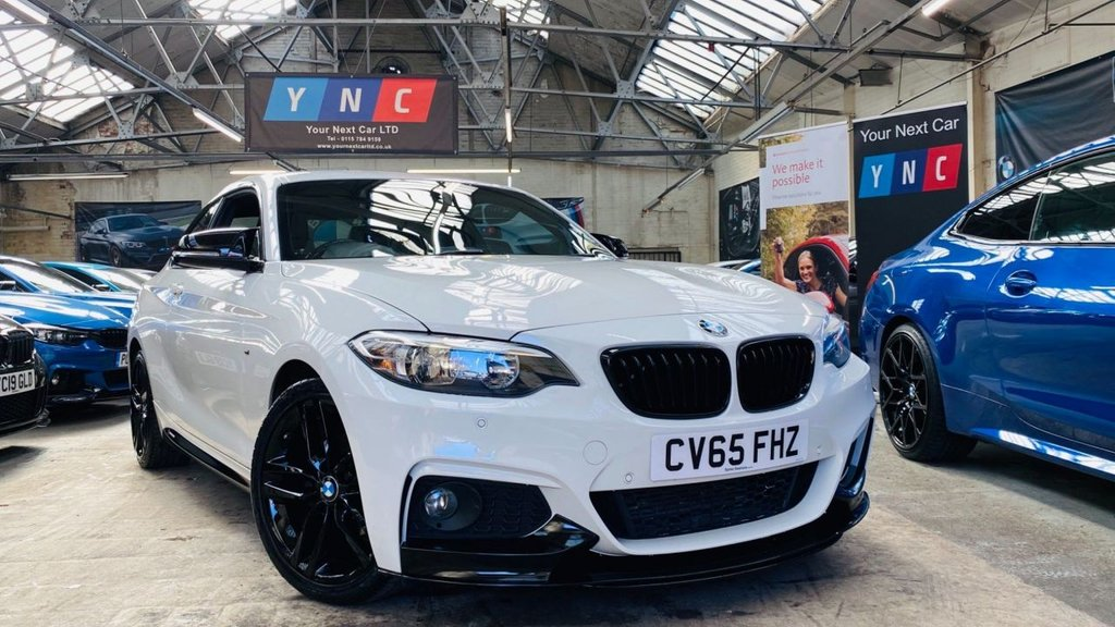 USED 2015 65 BMW 2 SERIES 2.0 218d M Sport (s/s) 2dr PERFORMANCEKIT+18S+LEATHER!